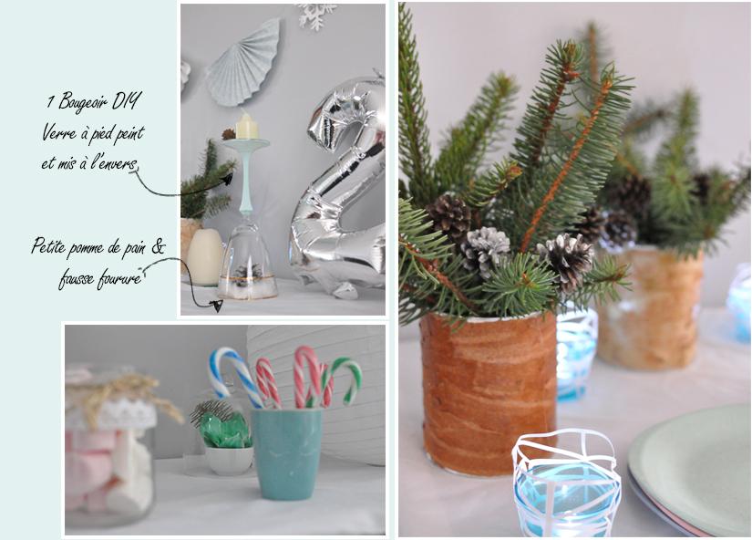 Décoration DIY anniversaire thème hiver